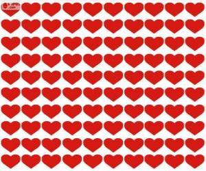 Rompicapo di 100 cuori, un centinaio di cuori per festeggiare San Valentino, Festa degli Innamorati