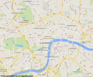 Cartina Geografica Di Londra Da Stampare.Puzzle Di Mappa Di Londra E Rompicapo Da Stampare