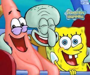 Rompicapo di SpongeBob SquarePants ed i suoi amici Patrick Stella e Squiddi Tentacolo