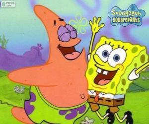Rompicapo di SpongeBob e Patrick molto felice