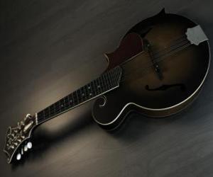 Rompicapo di A, strumento musicale mandolino con quattro corde doppie