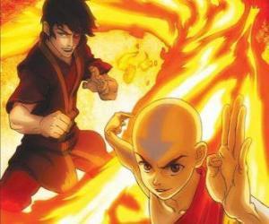 Rompicapo di Aang e Zuko lotta