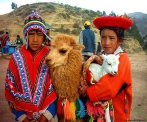 Rompicapo di Abiti tradizionali Inca