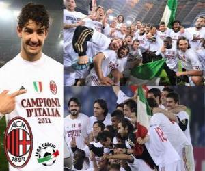 Rompicapo di AC Milan, campione italiano di calcio Serie A 2.010-11