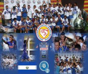 Rompicapo di AD Isidro Metapán campione Apertura 2010 (El Salvador)