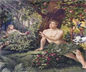 Rompicapo di Adamo ed Eva nel paradiso