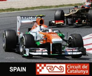 Rompicapo di Adrian Sutil - Force India - Circuit de Catalunya, Barcellona, 2013