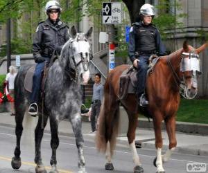 Rompicapo di Agenti di polizia a cavallo