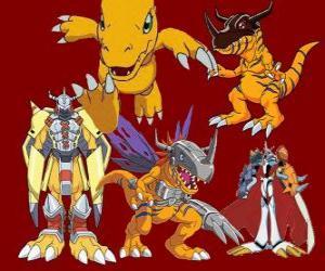 Rompicapo di Agumon è uno dei digimon principali. Agumon è un Digimon molto coraggiosa e divertente