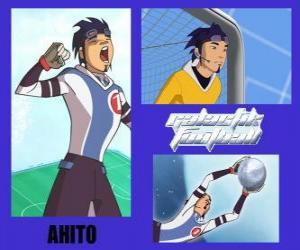Rompicapo di Ahito è il portiere della squadra di calcio galattico Snow Kids con numero 1