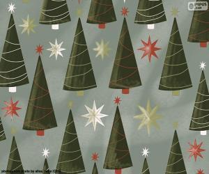 Rompicapo di Alberi di Natale e stelle