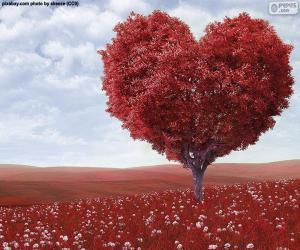 Rompicapo di Albero a forma di cuore