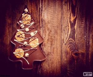 Rompicapo di Albero di natale cioccolato