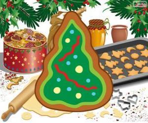 Rompicapo di Albero di Natale, un biscotto di Natale
