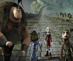 Rompicapo di Alcuni dei protagonisti delle avventure Gwizdo, Zoe, Hector e Lian-Chu