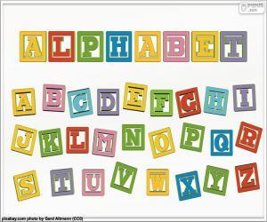 Rompicapo di Alfabeto di colori