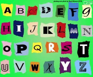 Rompicapo di Alfabeto inglese
