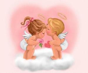 Rompicapo di Amanti Amorini sul cuore di San Valentino