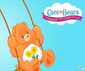 Rompicapo di Amicorso,  l'orsetto del curore che ha due fiori sopra la pancia