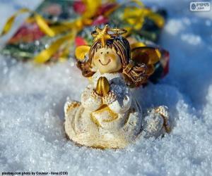 Rompicapo di Angelo di Natale pregando