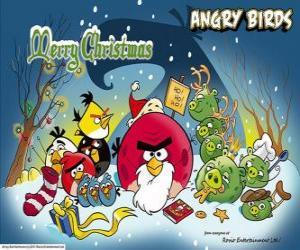 Rompicapo di Angry Birds si desidera Buon Natale