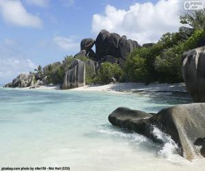 Rompicapo di Anse Source d'Argent, Seychelles