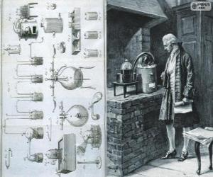 Rompicapo di Antoine Lavoisier (1743-1794), chimico francese, considerato il creatore della moderna chimica
