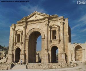 Rompicapo di Arco di Adriano, Giordania