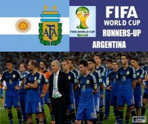 Rompicapo di Argentina 2 ° classificato nel Mondiali di calcio Brasile 2014