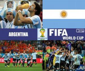 Rompicapo di Argentina celebra la sua classificazione, Brasile 2014
