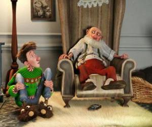 Rompicapo di Arthur Christmas amb el seu avi