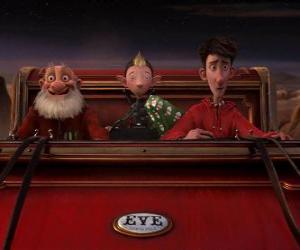 Rompicapo di Arthur Christmas, Grandsanta i Bryony al trineu vell llest per distribuir el regal d'última