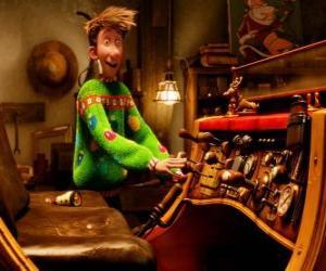 Rompicapo di Arthur Christmas guardando la vecchia slitta