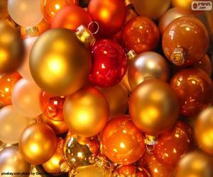 Rompicapo di Assortimento delle sfere Natale