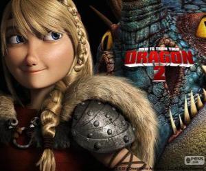 Rompicapo di Astrid con il suo drago alato Stormfly, Dragon Trainer 2