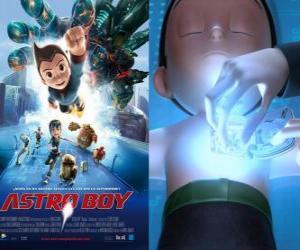 Rompicapo di AstroBoy o Astro Boy, un super-robot creato dal dottor Tenma a immagine di suo figlio Toby morto e le sue memorie