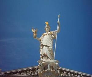 Rompicapo di Atena, nella mitologia greca la dea della sapienza, della strategia e della guerra giusta