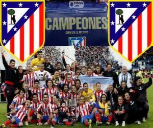 Rompicapo di Atlético de Madrid campione Copa del Rey 2012-2013