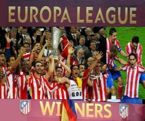 Rompicapo di Atlético Madrid, campione di UEFA Europa League 2011-2012