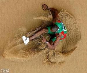 Rompicapo di Atleta che pratica il salto in lungo