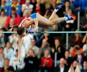 Rompicapo di Atleta facendo un salto con l'asta