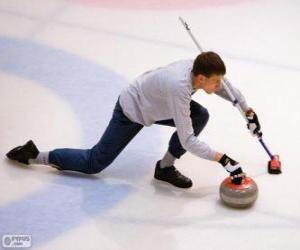 Rompicapo di Atleta praticante curling