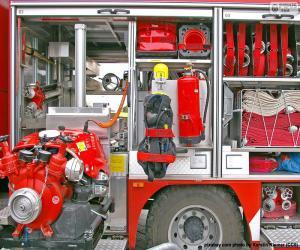 Rompicapo di Attrezzature camion pompieri