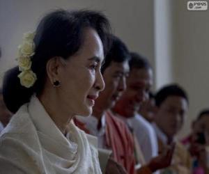 Rompicapo di Aung San Suu Kyi politico e attivista birmana