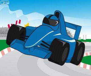 Rompicapo di Auto da corsa F1 blu