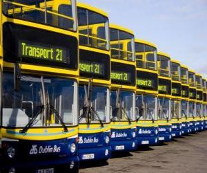 Rompicapo di Autobus da Dublino nel parcheggio