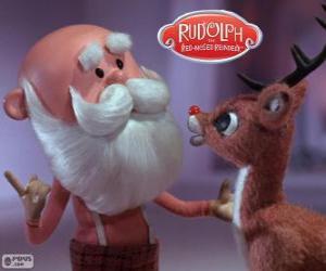Rompicapo di Babbo Natale con Rudolph