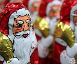 Rompicapo di Babbo Natale di cioccolato