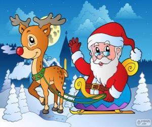 Rompicapo di Babbo Natale in slitta