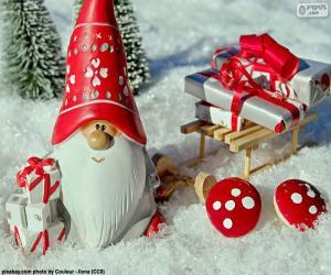 Rompicapo di Babbo Natale, ornamento di Natale